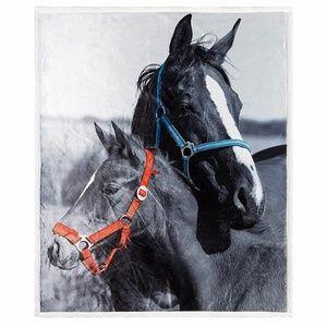 Horse Throw Photo Blanket Sherpa